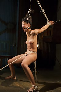 Lyla in the toughest and tightest bondage that she\