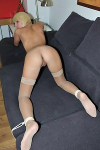 Lena Cova tied doggy