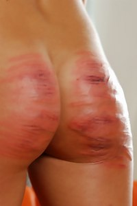 The hardest spanking punishment she ever received