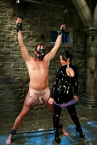 Sandra Romain dominates slave boy