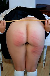 A severe caning for a new student in the house