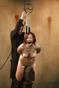 Brand new girl takes one of the most brutal ass whoopings ever seen on Sadistic Rope