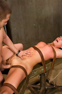 Rough sex and bondage for a hot pain slut!