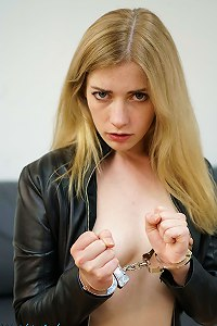 Lady in Leather cuffed