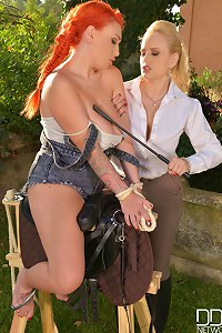 Angel Wicky & LiLy Madison slave girl