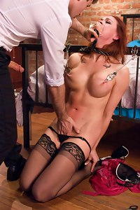 Sexy Chanel Preston submits to James Deen in this fantasy role play