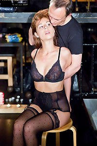 Girl in stockings in the hands of Master`s submission  Subspaceland