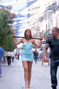 Bianca Resa is bound and led through the streets of Madrid to service the public. She is made into a public ashtray that even the police agree is an e