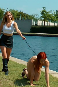 Gorgeous Ginger Isabella is a filthy river rat and Mona Wales is here to make sure that animal gets the fucking and humiliation a dirty pest deserves!