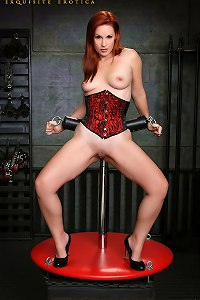 KenMarcus Sample Gallery Redhair Chrissy Daniels Corset Rope Bondage