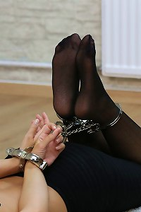 Sophia long term hogcuffed