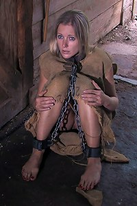 Women handcuffs leg irons bondage can