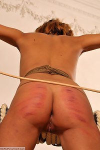 A never-ending caning for a Russian cutie