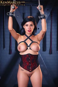 KenMarcus Sample Gallery Blindfolded Corset Bondage