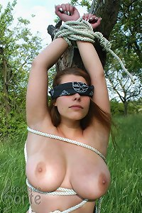 girl to tree tied bondage Naked